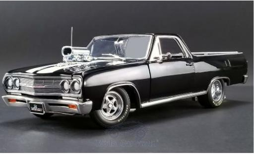 Chevrolet El Camino 1/18 ACME Drag Outlaw black/white 1965 diecast model cars