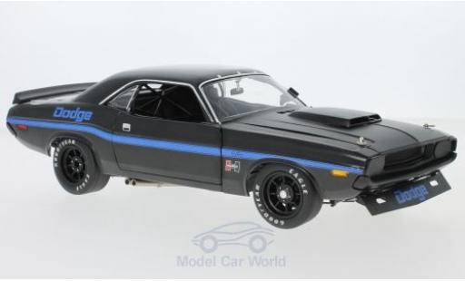 Dodge Challenger 1/18 ACME Trans Am Street Version noire/bleue 1970 miniature