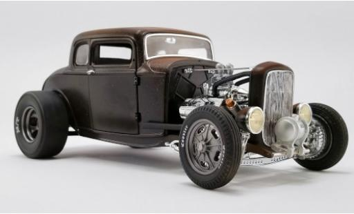 Ford Deluxe 1/18 ACME Coupe Rat Rod matt-noire/marron 1932 Pork Chops 190 Proof miniature