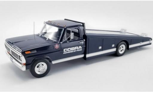 Ford F-350 1/18 ACME Ramp Truck blau/weiss Shelby Cobra 1970 Powered by modellautos
