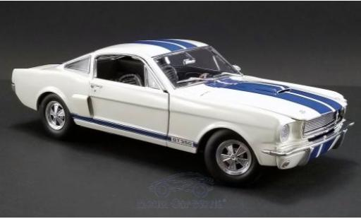 Ford Mustang 1/18 ACME Shelby GT350 Supercharged blanche/bleue 1966 miniature