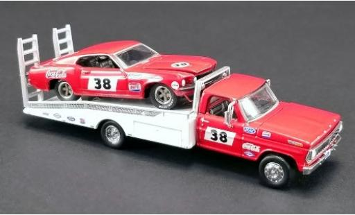 Ford Mustang 1/64 ACME Greenlight No.38 Allan Moffat Racing Trans-Am 1969 avec F-350 Ramp Truck A.Moffat miniatura