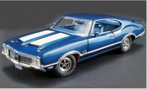 Oldsmobile 442 1/18 ACME W-30 metallise bleue/blanche 1970 miniature