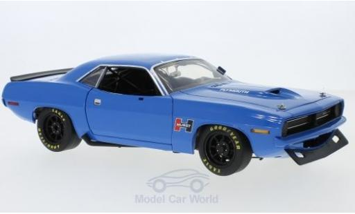 Plymouth Cuda 1970 1/18 ACME Trans Am Street Version bleue miniature