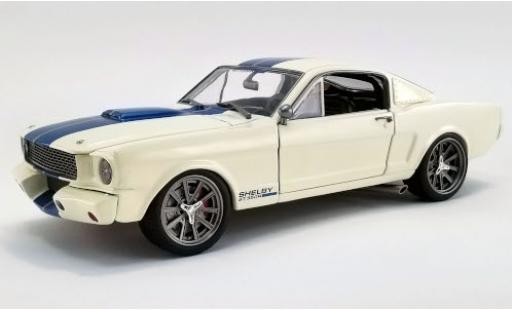 Shelby GT 1/18 ACME 350R Street Fighter blanche/bleue 1965 miniature