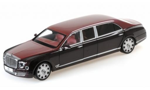 Bentley Mulsanne 1/18 Almost Real Grand Limousine by Mulliner rouge/rouge 2017 miniature