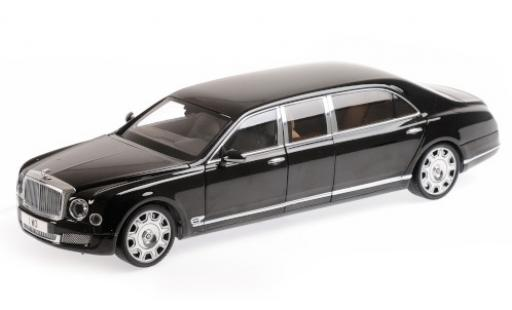 Bentley Mulsanne 1/18 Almost Real Grand Limousine by Mulliner noire 2017 miniature