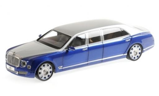 Bentley Mulsanne 1/18 Almost Real Grand Limousine by Mulliner grise/metallise bleue 2017 miniature