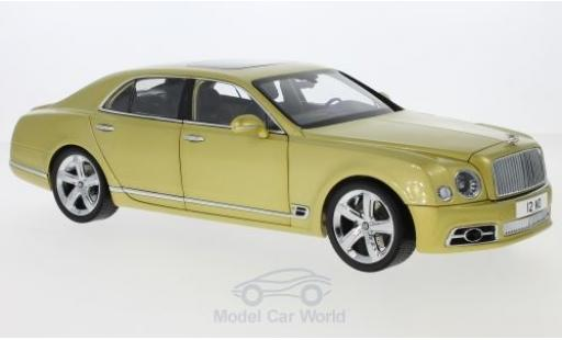 Bentley Mulsanne 1/18 Almost Real Speed gold 2017 miniature