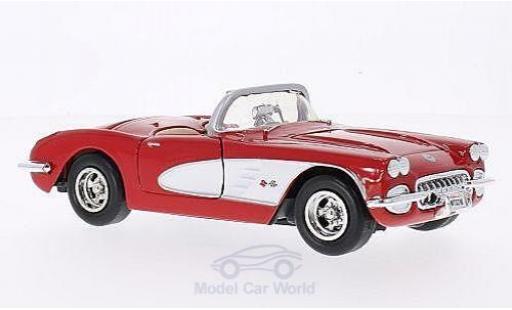 Chevrolet Corvette C1 1/24 American Mint/Motormax  rot/weiss 1959 modellautos