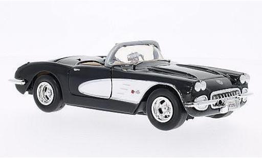 Chevrolet Corvette 1/24 American Mint/Motormax (C1) noire/blanche 1959 miniature