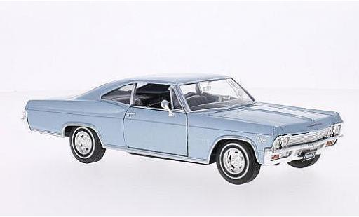 Chevrolet Impala 1/24 American Mint/Welly SS 396 metallise bleue 1965 miniature
