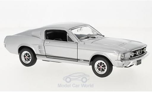 Ford Mustang GT 1/24 American Mint/Welly grise 1967 miniature