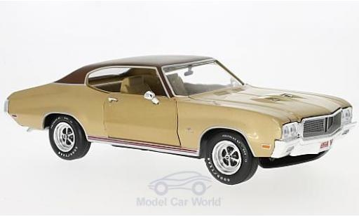 Buick GS 1/18 Auto World Stage 1 metallise beige/marron 1970 miniature