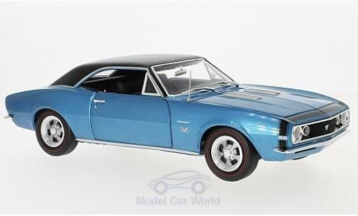 Chevrolet Camaro SS 1/18 Auto World 427 Baldwin Motion metallise bleue/noire 1967 miniature