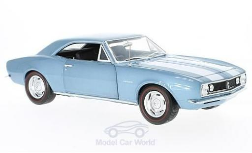Chevrolet Camaro 1/18 Auto World Z28 metallise bleue 1967 50th Anniversary ohne Vitrine miniature