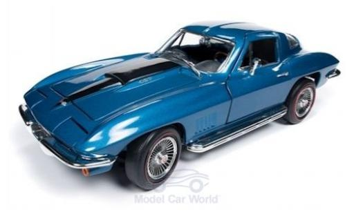 Chevrolet Corvette 1/18 Auto World 427 metalico azul 1967 miniatura