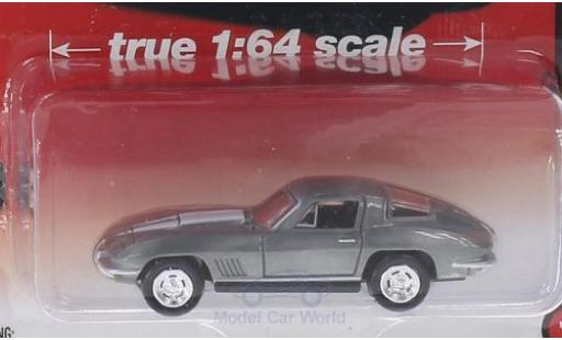 Chevrolet Corvette 1/64 Auto World StingRay 427 Special Version grey/white 1967 ohne Vitrine diecast model cars