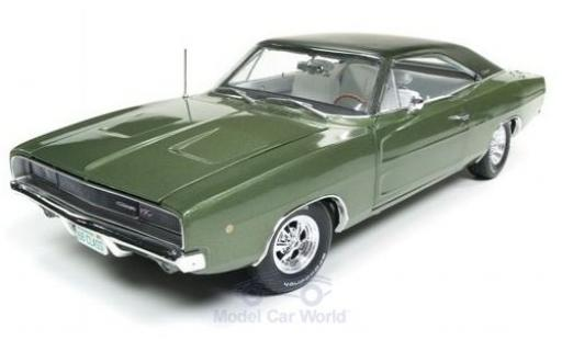 Dodge Charger 1/18 Auto World R/T metallic green 1968 diecast