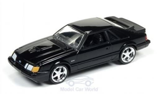Ford Mustang 1/64 Auto World SVO noire 1985 miniature