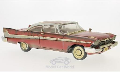 Plymouth Fury 1/18 Auto World rouge Christine 1958 Dirty Version miniature