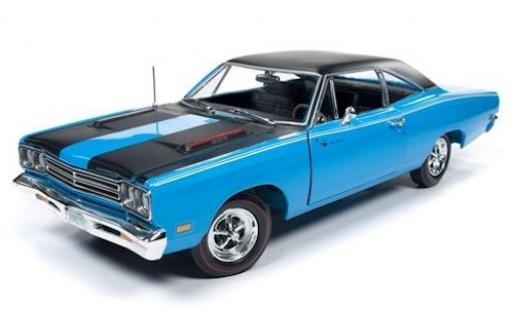 Plymouth Road Runner 1/18 Auto World blue/black 1969 diecast model cars