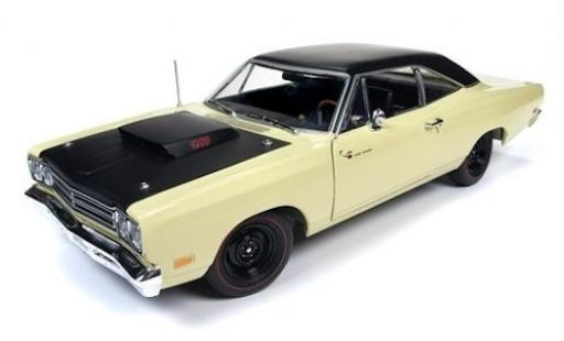 Plymouth Road Runner 1/18 Auto World jaune/noire 1969 miniature