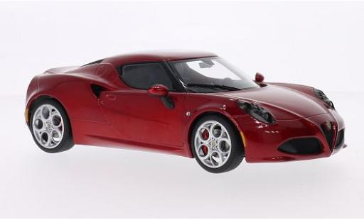 Alfa Romeo 4C 1/18 AUTOart metallise red 2013 diecast model cars