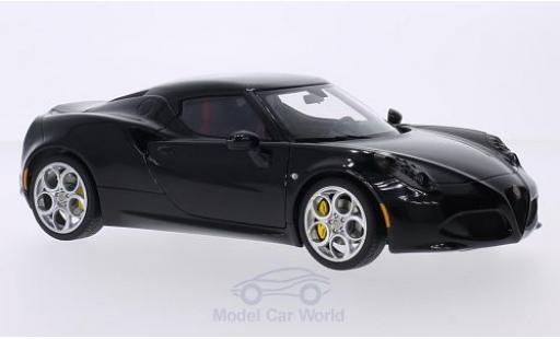 Alfa Romeo 4C 1/18 AUTOart black 2013 diecast model cars