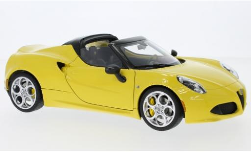 Alfa Romeo 4C 1/18 AUTOart Spider yellow 2015 diecast model cars