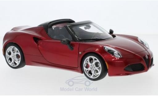 Alfa Romeo 4C 1/18 AUTOart Spider red 2015 diecast model cars