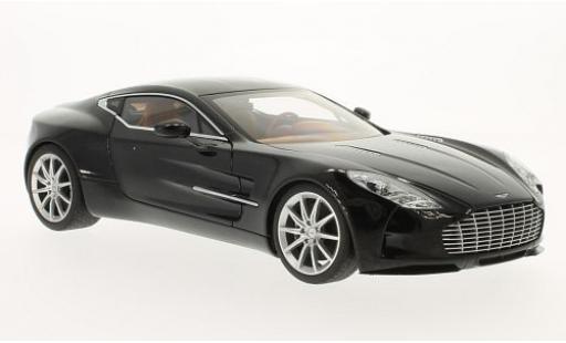 Aston Martin One 1/18 AUTOart ONE-77 metallise noire 2009 miniature