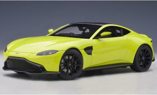 Aston Martin Vantage 1/18 AUTOart yellow/carbon RHD 2019 diecast model cars