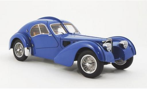 Bugatti 57 1/18 AUTOart S Atlantic azul RHD 1938 avec Métal-Speichenfelgen coche miniatura