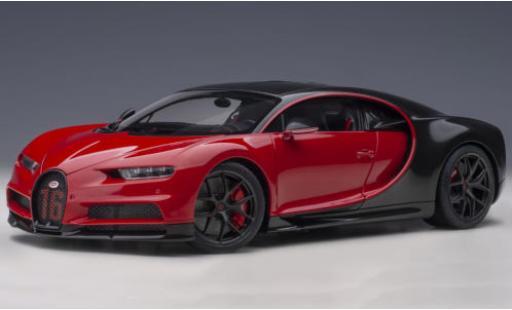 Bugatti Chiron 1/18 AUTOart Sport red/carbon 2019 No.16 diecast model cars