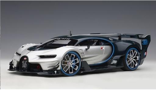 Bugatti Vision 1/18 AUTOart Gran Turismo grise/carbon 2015 miniature