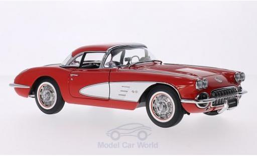 Chevrolet Corvette C1 1/18 AUTOart  red/white 1958 Hardtop liegt bei diecast model cars