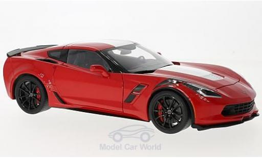 Chevrolet Corvette C7 1/18 AUTOart  Grand Sport rouge/blanche 2017 miniature
