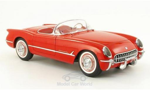 Chevrolet Corvette 1/18 AUTOart red 1954 diecast model cars