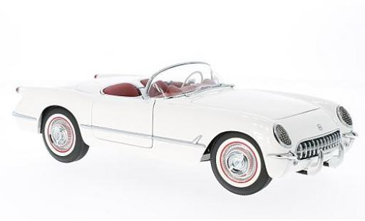Chevrolet Corvette 1/18 AUTOart white 1953 diecast model cars