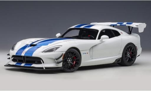 Dodge Viper 1/18 AUTOart GTS-R Commemorative Edition ACR white/metallise blue 2017 diecast model cars