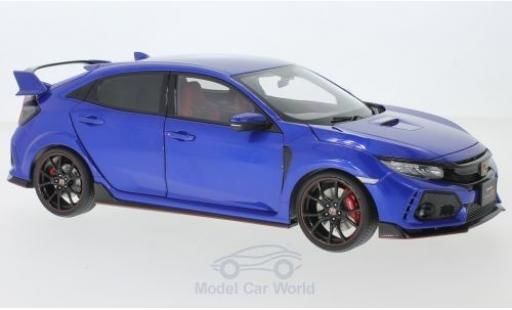 Honda Civic 1/18 AUTOart Type R (FK8) metallise blue RHD 2017 diecast model cars
