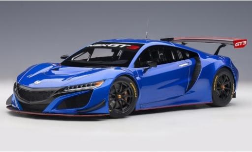 Honda NSX 1/18 AUTOart GT3 blau 2018 Plain Body Version modellautos