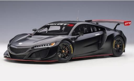 Honda NSX 1/18 AUTOart GT3 metallise nero 2018 Plain Body Version modellino in miniatura