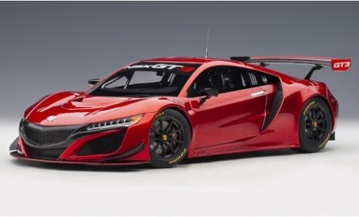Honda NSX 1/18 AUTOart GT3 rosso 2018 Plain Body Version modellino in miniatura
