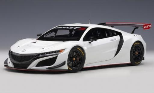 Honda NSX 1/18 AUTOart GT3 weiss 2018 Plain Body Version modellautos