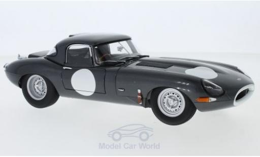 Jaguar E-Type 1/18 AUTOart Lightweight grise RHD mit abnehmbarem Dach miniature