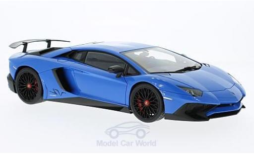 Lamborghini Aventador 1/18 AUTOart LP750-4 SV bleue 2015 miniature