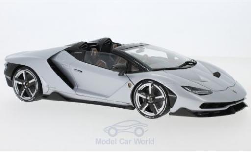 Lamborghini Centenario 1/18 AUTOart Roadster matt-grise 2016 miniature