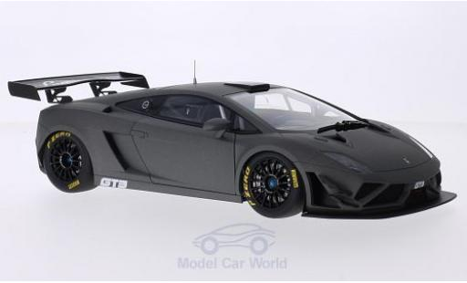 Lamborghini Gallardo 1/18 AUTOart GT3 FL2 matt-grise 2013 Plain Body Version miniature